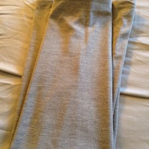 Grey long knit skirt